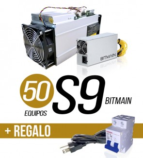 50 EQUIPOS S9 13.5 TH/s + 1...